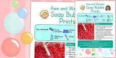 Soap Bubble Prints Awe and Wonder Science Activity