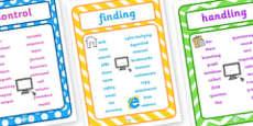 ICT Vocabulary Posters