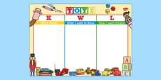 Toys Topic KWL Grid
