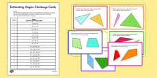 Estimating Angles Challenge Cards