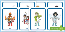 Tarjetas de fonemas: Los superhéroes