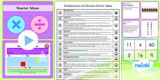 PlanIt Y1 Multiplication and Division Starter Ideas Pack