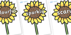 Wow Words on Sunflowers