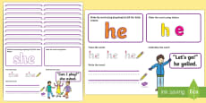 Phase 3 Tricky Words Make Read Write Activity Mats