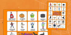 Halloween Vocabulary Poster Polish Translation