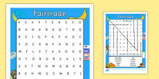 Fairtrade Fortnight Wordsearch (Differentiated)
