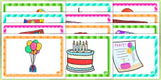 9th Birthday Party Place Mats
