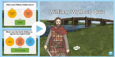 * NEW * William Wallace Quiz PowerPoint