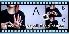 How to Fingerspell the Alphabet in British Sign Language (BSL) Close Up Video Clip