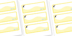 Toucan Themed Editable Drawer-Peg-Name Labels (Colourful)