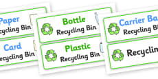 Recycling Box Labels