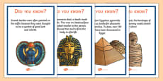 Ancient Egypt Fun Facts Posters