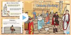 Roman Society Information PowerPoint