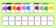 Karty do dopasowywania Kolory