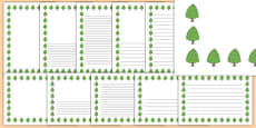 Lime Tree Themed Page Borders