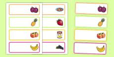 Fruit Salad Editable Drawer Peg Name Labels