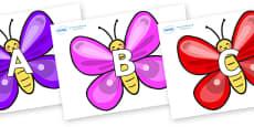 A-Z Alphabet on Butterflies