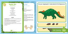 * NEW * Playdough Recipe and Mat Pack to Support Teaching on Harry and the Bucketful of Dinosaurs