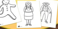 The Gingerbread Man Colouring Sheets
