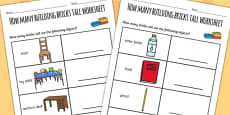 Australia - How Many Building Bricks Tall Worksheet