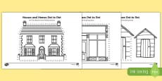 Houses and Homes Dot-to-Dot Activity Sheet Pack