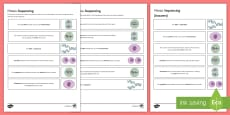 Mitosis Sequencing Cards