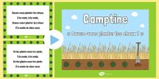 Savez-vous planter des choux ? Nursery Rhyme PowerPoint