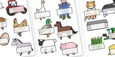 Editable Self Registration Labels (On the Farm)