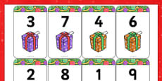 Number Bonds to 10 Matching Cards (Presents)