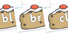 Initial Letter Blends on Currant Buns