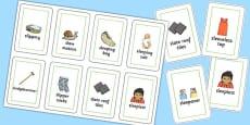 Three Syllable SL Flash Cards