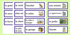 My Home Word Cards French