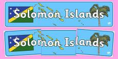 Solomon Islands Display Banner