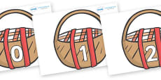 Numbers 0-100 on Picnic Baskets to Support Teaching on The Lighthouse Keeper's Lunch