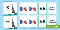 French Number Snap Matching Cards