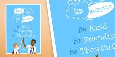 Anti-Bullying Week: Say No to Bullying Poster