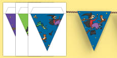 Bunting to Support Teaching on Room on the Broom