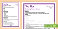 Sensory Blanket Top Tips