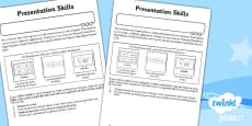 PlanIt - Computing Year 2 - Presentation Skills Unit Home Learning Tasks