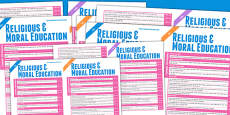 Scottish Curriculum For Excellence Religious And Moral Education Overview Posters Early To Second