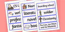CS Lewis Word Cards
