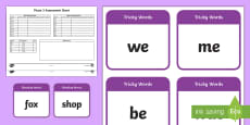 * NEW * Phase 3 Phonics Assessment Pack