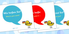 German Basic Phrase Posters