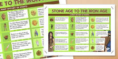 Stone Age to the Iron Age Facts Poster