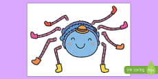 Incy Wincy Spider Split Pin