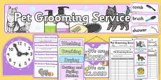 Pet Groomers Roleplay and Writing Resources Pack
