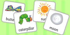 Flash Cards to Support Teaching on The Very Hungry Caterpillar
