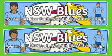 State of Origin New South Wales Display Banner