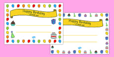 General Happy Birthday Certificates Romanian Translation