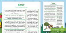 * NEW * Home Learning Challenges Reception FS2 to Support Teaching on Elmer